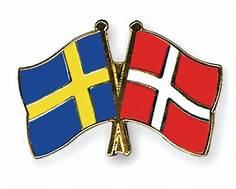 Swedish and Danish flags