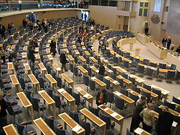 Swedish parliament assembly hall