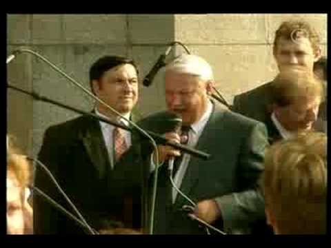 Boris Yeltsin leads orchestra