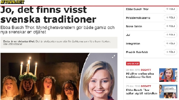Ebba Busch Thor Swedish traditions