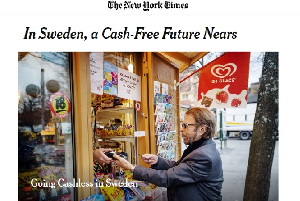 going cashless in sweden