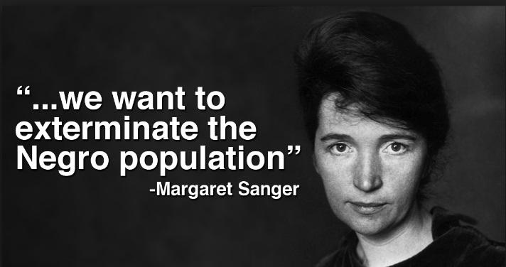 margaret sanger exterminate black population