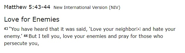Matthew 543-44