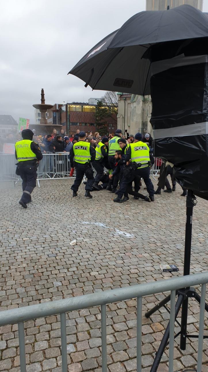 Police surrounding Muslim